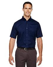 Core 365 88194T Men Tall Optimum Short-Sleeve Twill Shirt at GotApparel