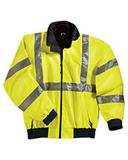 Tri-Mountain 8830 Men's District Poly Ansi Compliant Safety Jacket With Reflective Tape at GotApparel