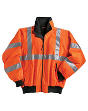 Tri-Mountain 8830 Men District Poly Ansi Compliant Safety Jacket With Reflective Tape at GotApparel