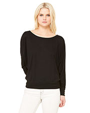 Bella + Canvas 8850 Women Flowy LongSleeve Off Shoulder T-Shirt at GotApparel