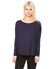 Bella + Canvas 8852 Women Flowy LongSleeve T-Shirt with 2x1 Sleeves at GotApparel