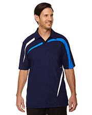 North End 88645 Men Impact Performance Polyester Pique Colorblock Polo at GotApparel