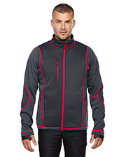 North End 88681 Men Pulse Textured Bonded Fleece Jacket with Print at GotApparel