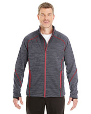 Ash City 88697  Men's Flux Mélange Bonded Fleece Jacket at GotApparel