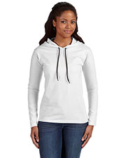 Anvil 887L Women Lightweight LongSleeve Hooded T-Shirt at GotApparel