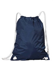 Liberty Bags 8887 White Drawstring Backpack at GotApparel