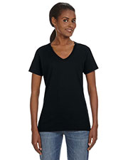 Anvil 88VL Women Lightweight V-Neck TShirt at GotApparel