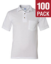 Gildan G890 Men Dryblend 6 Oz. 50/50 Jersey Polo With Pocket 100-Pack at GotApparel