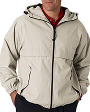 UltraClub 8908 Men Microfiber Full Zip Hooded Jacket at GotApparel
