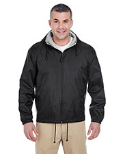 UltraClub 8915 Men Fleece-Lined Hooded Jacket at GotApparel