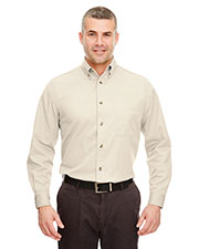 UltraClub 8960C  Cypress Long-Sleeve Twill With Pocket at GotApparel