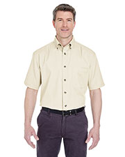 UltraClub 8965C Men Short-Sleeve Cypress Twill With Pocket at GotApparel