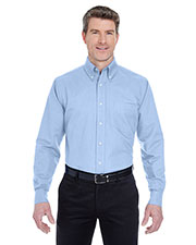 UltraClub 8970T Men Tall Classic Wrinkle Free LongSleeve Oxford at GotApparel