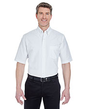 Ultraclub 8972T Men Tall Classic Wrinklefree Shortsleeve Oxford at GotApparel