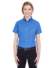 Ultraclub 8973 Women €  Classic Wrinklefree Shortsleeve Oxford at GotApparel