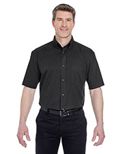 UltraClub 8977 Men short sleeve Whisper Twill at GotApparel