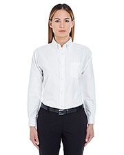 Ultraclub 8990 Women Classic Wrinkle-Free Long-Sleeve Oxford at GotApparel