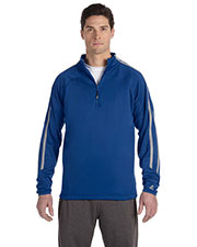 Russell Athletic 8TPEFM Men Tech Fleece Quarter-Zip Cadet at GotApparel