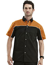 Tmr 908 Men Downshifter Short-Sleeve Twill Woven Shirt at GotApparel