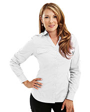 TMR 919 Women Aero Woven Long Sleeve Shirt With Epaulette at GotApparel