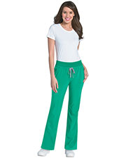 Urbane 9317 Women Knit/Woven Wide Waistband Convertible Pant at GotApparel