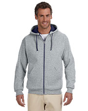 Jerzees 93CR Adult 8 oz., 50/50 NuBlend Contrast Full Zip Hood at GotApparel