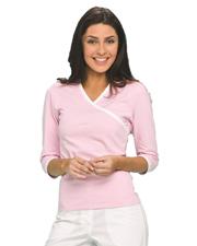 Urbane 9584 Women Knit Surplice Tee at GotApparel