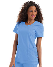 Urbane 9587 Women Josie Banded Surplice Tunic at GotApparel