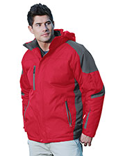 Tri-Mountain 9800 Men Avalanche Water Resistant Full Lined & Quilted With Removable Hood Woven Jacket at GotApparel