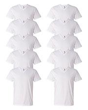 Anvil 982 Men Lightweight V-Neck T-Shirt 10-Pack at GotApparel