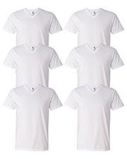 Anvil 982 Men Lightweight V-Neck T-Shirt 6-Pack at GotApparel