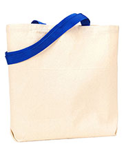 UltraClub 9868 Unisex Organic Recycled Cotton Canvas Tote with Contrast Handles at GotApparel