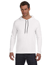 Anvil 987AN Adult Lightweight Long-Sleeve Hooded T-Shirt at GotApparel