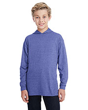 Anvil 987b  Youth Long-Sleeve Hooded t-Shirt at GotApparel