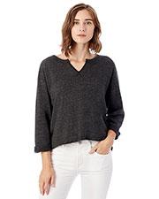 Custom Embroidered Alternative Apparel 9900F Women Champ Remix Eco Fleece V-Notch Sweatshirt at GotApparel