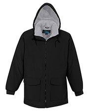 Tri-Mountain 9900 Men Woodsman Hooded Raglan Sleeves Zipper Parka at GotApparel