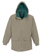 Tri-Mountain 9900 Men Woodsman Hooded Raglan Sleeves Zipper Parka at GotApparel