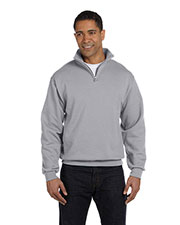 Jerzees 995M Men 8 Oz. 50/50 Nublend Quarter-Zip Cadet Collar Sweatshirt at GotApparel