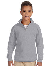 Jerzees 995Y Boys 8 Oz. 50/50 Nublend Quarter-Zip Cadet Collar Sweatshirt at GotApparel