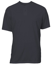 Soffe 996A Men Adult Dri 2-Button Henley Poly at GotApparel