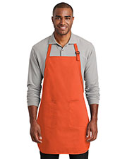 Port Authority A600 Men 7 oz Full-Length Two-Pocket Bib Apron at GotApparel