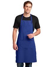 Port Authority A700 Men Easy Care Extra Long Bib Apron with Stain Release at GotApparel