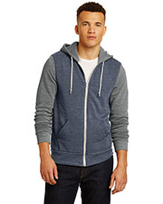 Alternative Apparel AA32023 Men Alternative Colorblock Rocky Eco™-Fleece Zip Hoodie. at GotApparel