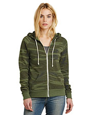 Custom Embroidered Alternative Apparel AA9573 Women 6.49 oz Adrian Eco Fleece Zip Hoodie at GotApparel