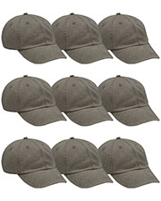 Adams AD969 Unisex Optimum Pigt Dyed-Cap 9-Pack at GotApparel