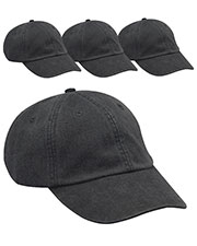 Adams AD969 Unisex Optimum Pigment Dyed-Cap 4-Pack at GotApparel