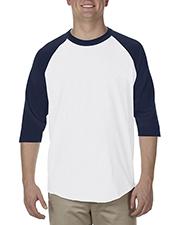 Alstyle AL1334 Adult 6 oz. 100% Cotton 3/4 Raglan T-Shirt at GotApparel