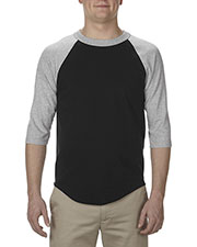 Alstyle AL1334 Men 6.0 oz., 100% Cotton 3/4 Raglan T-Shirt at GotApparel