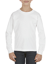 Alstyle AL3384 Boys Youth 6.0 oz., 100% Cotton Long-Sleeve T-Shirt at GotApparel
