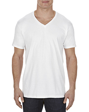 Alstyle AL5300 Men 4.3 oz., Ringspun Cotton V-Neck T-Shirt at GotApparel